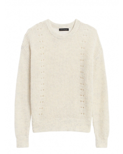 SWEATER MUJER CROPPED POINTELLE-KNIT