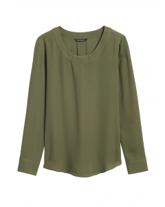 BLUSA MUJER PLEAT-BACK BLOUSE