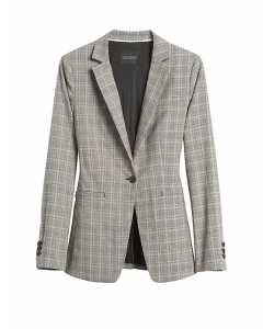 BLAZER MUJER LONG AND LEAN-FIT PLAID