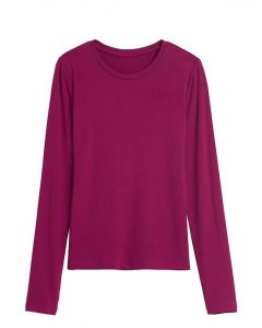 POLO MUJER RIBBED CREW-NECK