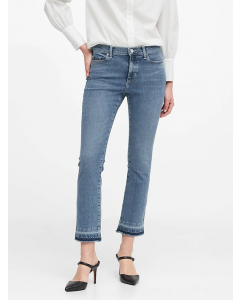 JEAN MUJER MID-RISE CROP FLARE