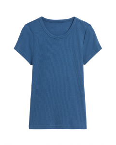 POLO MUJER FITTED RIBBED