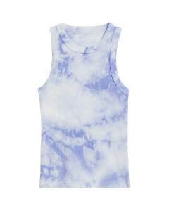 POLO MUJER FITTED TIE-DYE RIBBED TANK